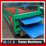Glalvanized runzelte die doppelte Schicht-Dach-Blatt-Rolle, die Maschine bildet
