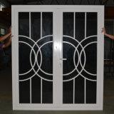 Dubbel Glas met Net, de Witte Deur Kz038 van de Gordijnstof van het Profiel van het Aluminium van de Onderbreking van de Kleur Poeder Met een laag bedekte nietThermische