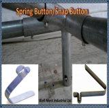Botón de clip de resorte / botón de presión para el ajuste de pabellón