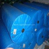 Roulis bleu de tissu de bâche de protection de PE pour le revêtement