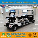 Carro de golf eléctrico de Seater de la venta caliente 6 para el campo de golf