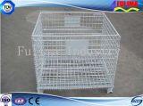 Cestino piegante del contenitore della gabbia della rete metallica di memoria del metallo (FLM-K-012)