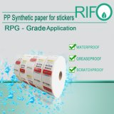 Grampos resistentes das etiquetas do risco pelo papel do Synthetic do rolo enorme
