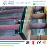 syndicat de prix ferme inférieur 1/2 clair de fer de 12mm clôturant le verre trempé