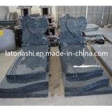 Il monumento blu del granito della perla di stile europeo, progetta il Headstone occidentale del cuore