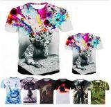 T-shirt fait sur commande de l'impression 3D dans divers couleurs, tailles, matériaux et modèles