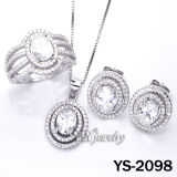 925 eleganti Sterling Silver Jewellery Set con White CZ