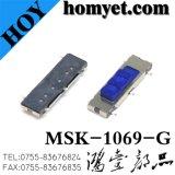 тумблер 5pin SMD квадратные/переключатель скольжения с голубой кнопкой (MSK-1069-G)