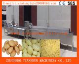 Pommes frites automatiques industrielles de pommes chips enlevant les machines de refroidissement de blanchiment Tstd-100 de découpage