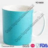 Голубая застекленная кружка кофеего пули форменный