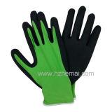 Nylonzwischenlage-Sandy-Palmen-Beschichtung-Handschuh-Sicherheits-Nitril-Arbeits-Handschuh