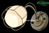 Luz cuadrada de cristal redonda de la pared del hierro del nuevo diseño 2014