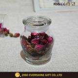 Kleines rundes versiegelbares Glasglas für Süßigkeit-Gewürz