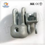 Überlegene geschmiedete Stahl galvanisierte Pole-Zeile Befestigungsteil-Kontaktbuchse-Gabelkopf