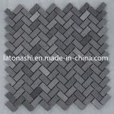 Mattonelle di mosaico nere del basalto della natura per la pavimentazione ed il muro