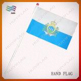 Bandierina tenuta in mano nazionale di pubblicità all'ingrosso (HYHF-AF065)