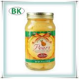 シロップの半分の黄色いモモの有機性缶詰にされたモモ