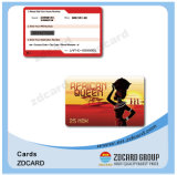Cartão esperto do controle de acesso do cartão do espaço em branco RFID do PVC do baixo custo