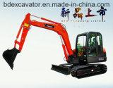 Mini compartimiento picador del excavador 5.5ton 0.2cbm de la correa eslabonada de Baoding