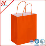 Fsc Impreso Bolsas de Papel Kraft Blanco Bolsas de Embalaje con Mango
