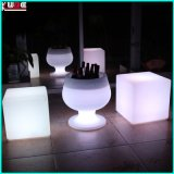 Muebles para sillas de luz LED Lounge Furniture LED Taboret