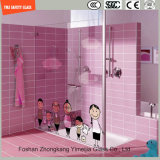 impression de Silkscreen de peinture de Digitals d'image de dessin animé de 3-19mm/configuration acide de sûreté gravure à l'eau forte gâchée/verre trempé pour l'écran de douche /Bathroom avec SGCC/Ce&CCC&ISO