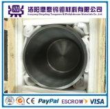 99,95% de alta densidad y temperatura crisol de tungsteno pulido para zafiro horno de crecimiento único cristal
