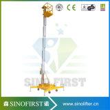 levage de plate-forme de fonctionnement d'alliage d'aluminium de 8m en haut
