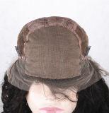 Pelo humano del cordón de la base de la manera de las mujeres del cordón de las pelucas llenas del frente