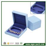 Cadre de bijou en cuir d'emballage de Nubuck de caractéristiques