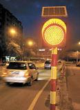 lámpara amonestadora de destello solar del tráfico de 300m m