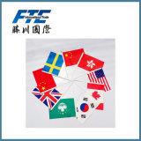 Fahnen-können kundenspezifische Land-Markierungsfahnen gedruckt werden