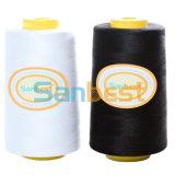 Naaiende Draad van de Polyester van 100% de Uitstekende kwaliteit Gesponnen