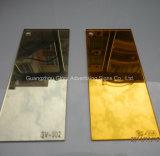 Het plastic Zilveren en Gouden AcrylBlad van de Spiegel PMMA
