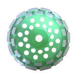 분단된 두 배 줄 컵 바퀴 다이아몬드에 의하여 받아 넣어지는 회전 숫돌