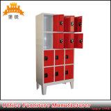熱い販売の現代デザイン簡単な安く12ドアの鋼鉄衣服の貯蔵用ロッカー