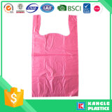 Bolso plástico de la camiseta del precio de fabricante para las compras