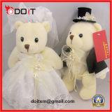 Urso da peluche do vestido de casamento do brinquedo do urso do vestido de casamento