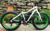 26 '' Legierungs-preiswerter Schnee-fetter Gummireifen-elektrisches Fahrrad/Bycicles E Fahrrad mit bester Qualität