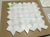 Carrara-Grau und Thassos weiße Blumen-Entwurfs-Mosaik-rutschfeste Badezimmer-Fußboden-Fliesen