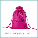 Sacchetto promozionale del pacchetto del raso del sacchetto delle estetiche cosmetiche del raso