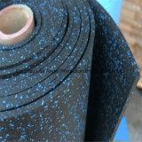 6mm, 8mm, stuoia di gomma del pavimento SBR di ginnastica nera di 10mm