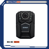 Opção desgastada de WiFi da sustentação da câmera do IP da fiscalização da polícia do tamanho de Senken mini corpo impermeável