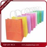 Sacchetto di carta del regalo, sacchetto con il marchio della stampa, sacchetto promozionale con il marchio della stampa, sacco di carta impaccante del regalo della carta kraft