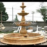 Fontana dorata Mf-459 del calcio della fontana della pietra della fontana della fontana di marmo del granito