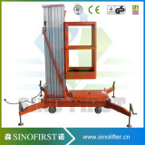 levage hydraulique de plate-forme de travail de lumière électrique de 9m en haut