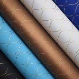 Webart-Goldzeile strukturiertes künstliches PU-dekoratives verpackenleder