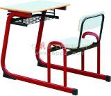 Escritorio fijo y silla del nuevo diseño de los muebles de escuela solo