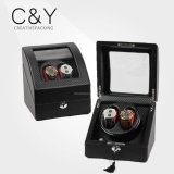 Fibre de carbone noir cuir PU Dual Watch Winder