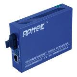 конвертер средств волокна 40KM одиночного режима 10/100/1000M двойной